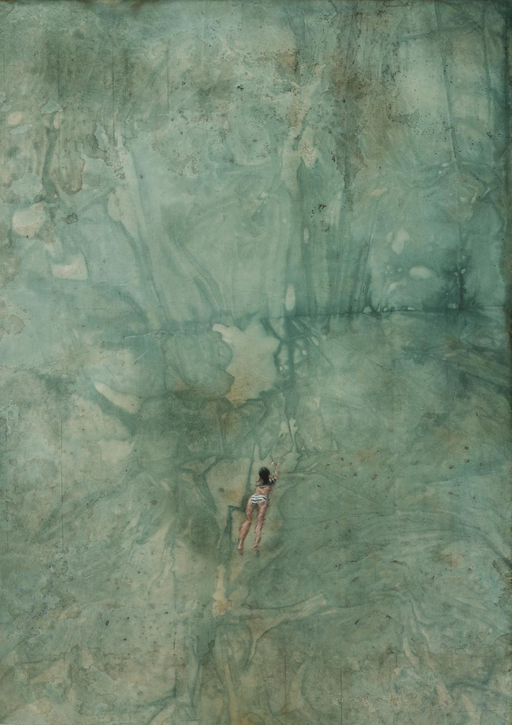 Memory Gap _ Surin Islands 2   98x69cm  mixed media  2014