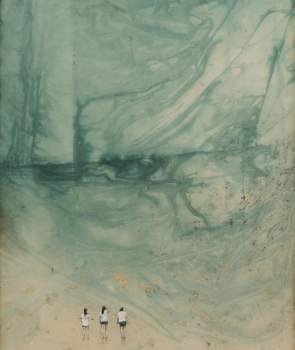 Memory Gap _ Surin Islands 3   49x60cm  mixed media  2014