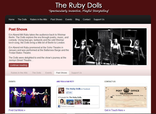 The Ruby Dolls Site