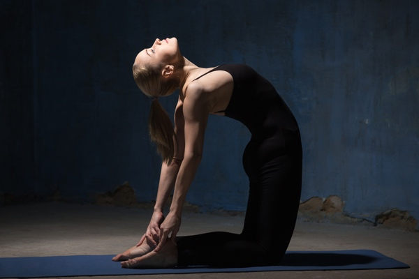yoga for sciatica - camel pose