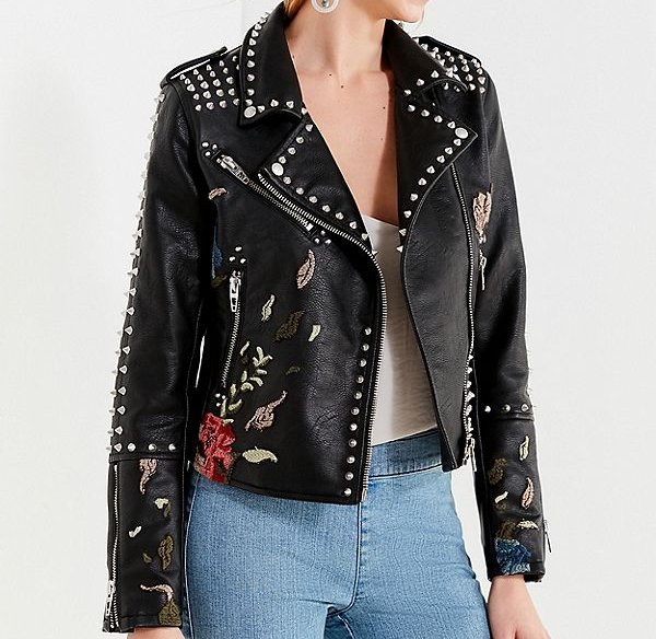 BLANKNYC Via Urban Outfitters - Budding Romance Studded Moto JacketAvailable in sizes 0-12$168.00