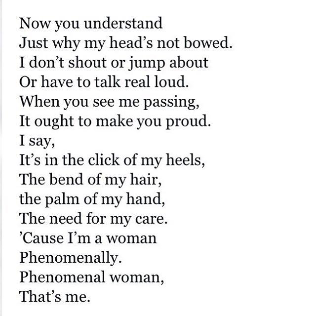 phenomenal woman by dr. maya angelou