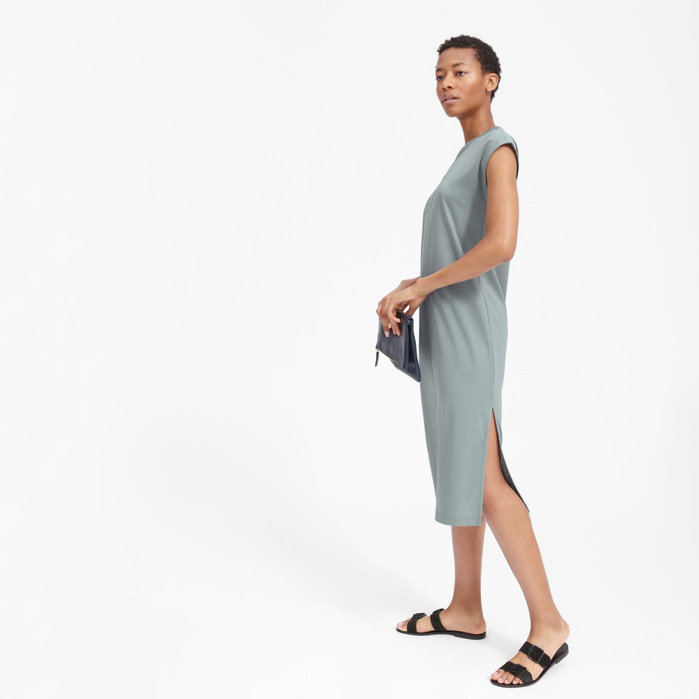 Luxe Cotton Tee Dress, $50, Everlane