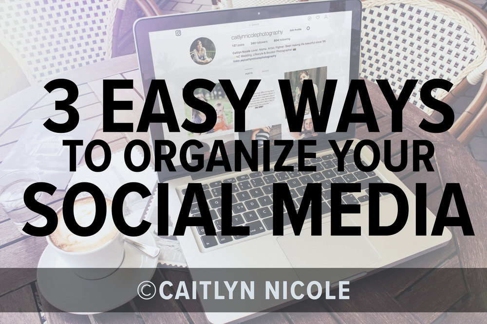 I would love to share with you 3 ways I organize my social media so I'm not struggling to figure out what to post last minute or even what to post. This ensures I'm providing consistent, high quality content without losing my sanity AND staying on brand.  -