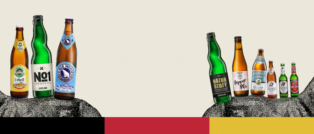 The finest selection of   German beers   Discover More