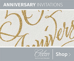 Anniversary Invitations from Carlson Craft