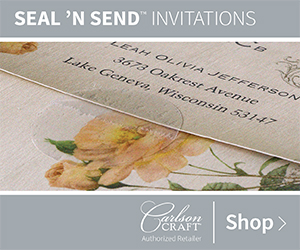 Custom Seal 'n Send Invitations from Carlson Craft