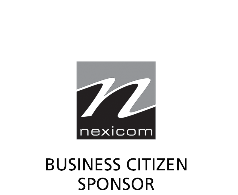 Nexicom logo - BW - Business Citizen Sponsor label.png