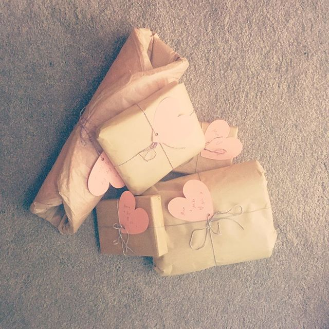 Brown paper packages tied up with string. 💕