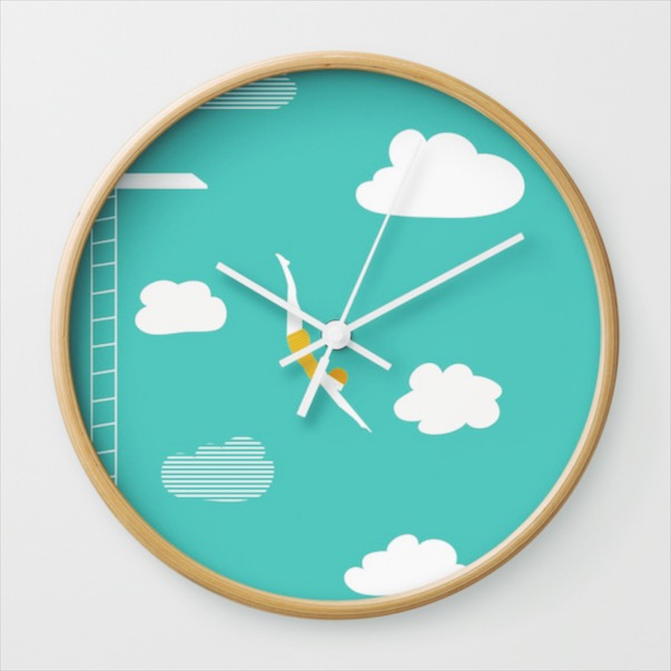 HIGH DIVER WALL CLOCK FROM £23