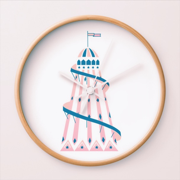 HELTER SKELTER WALL CLOCK FROM £23
