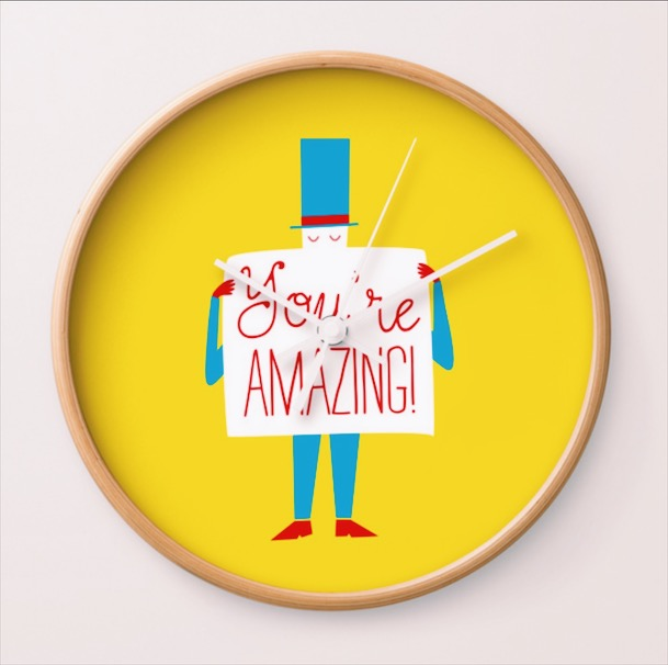 YOU'RE AMAZING WALL CLOCK FROM £23