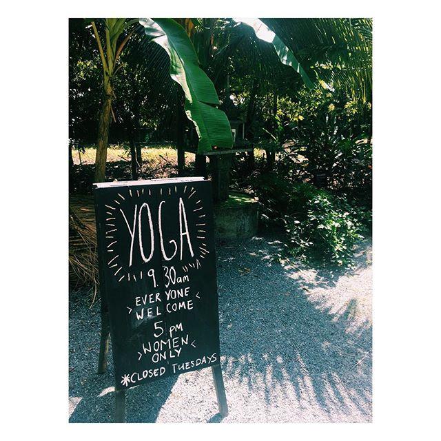 Yoga @banteaysreyspa 9.30am and 5pm every day except Tuesday. Yaasss!! ૐ  #kampot #cambodia #yogaeverydamnday