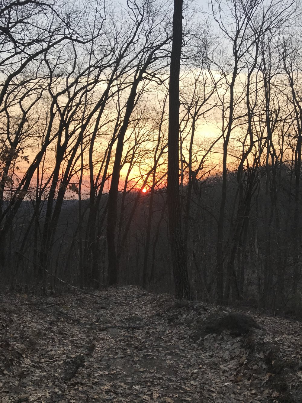 Sunrise from the trail.