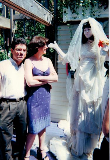 """Meus amigos Bruno e Simone com a """"Noiva"""" no meu casamento - Julho 2000"""