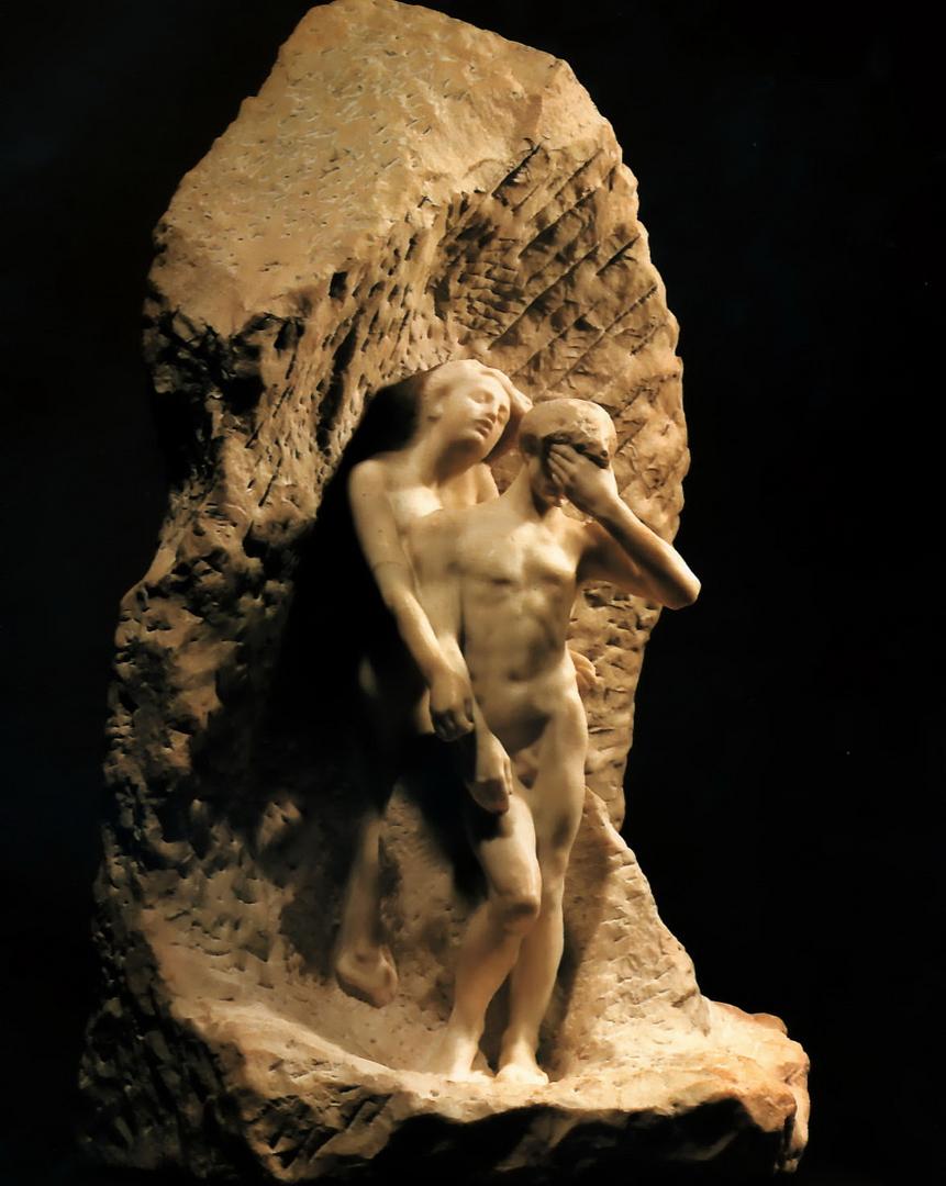 Escultura de Auguste Rodin- Orfeu e Eurídice