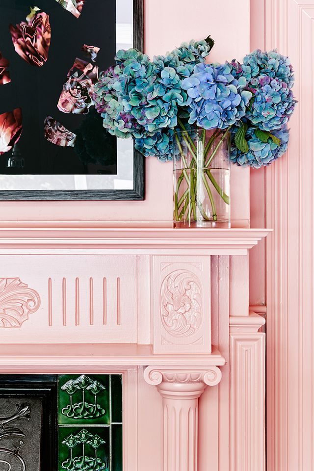 Paint your mantle pink