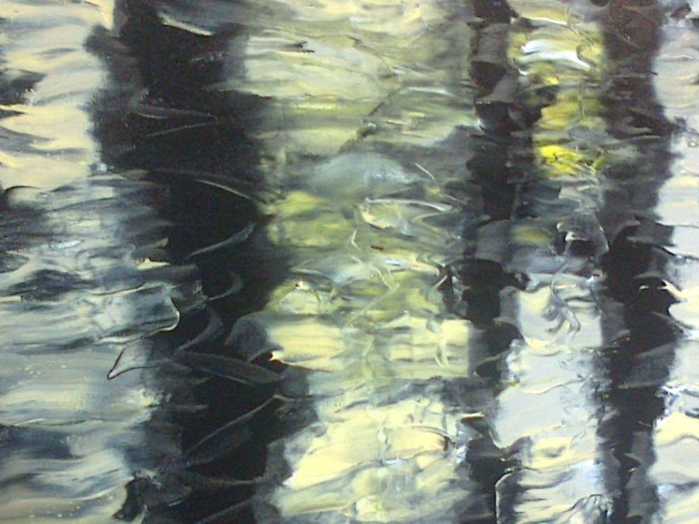 Pond Ripples No. 1   Oil on canvas, 800 X 900mm, central panel of triptych.