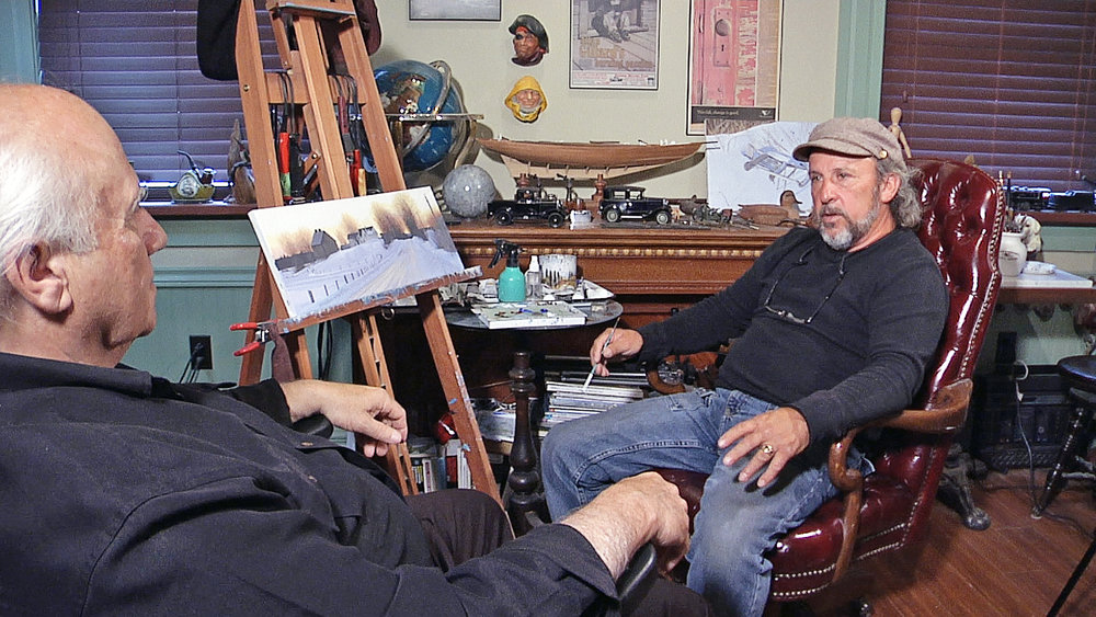 Bill Coulta, left,s sits down for an interview with Tors Cove artist Allan Gillard for Coultas' new series Arts Delight. The 10-part series will profile well-known artists along with hidden gems. Arts Delight will premiere on NTV this Sunday at 4 p.m.