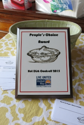 The coveted People's Choice award!