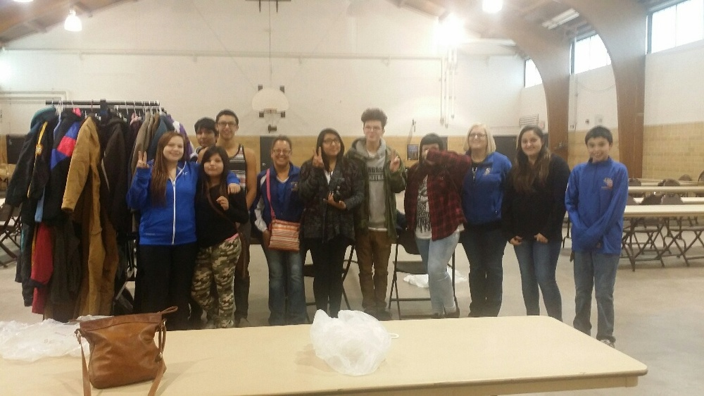 Fond du Lack High School students help set up for OCC