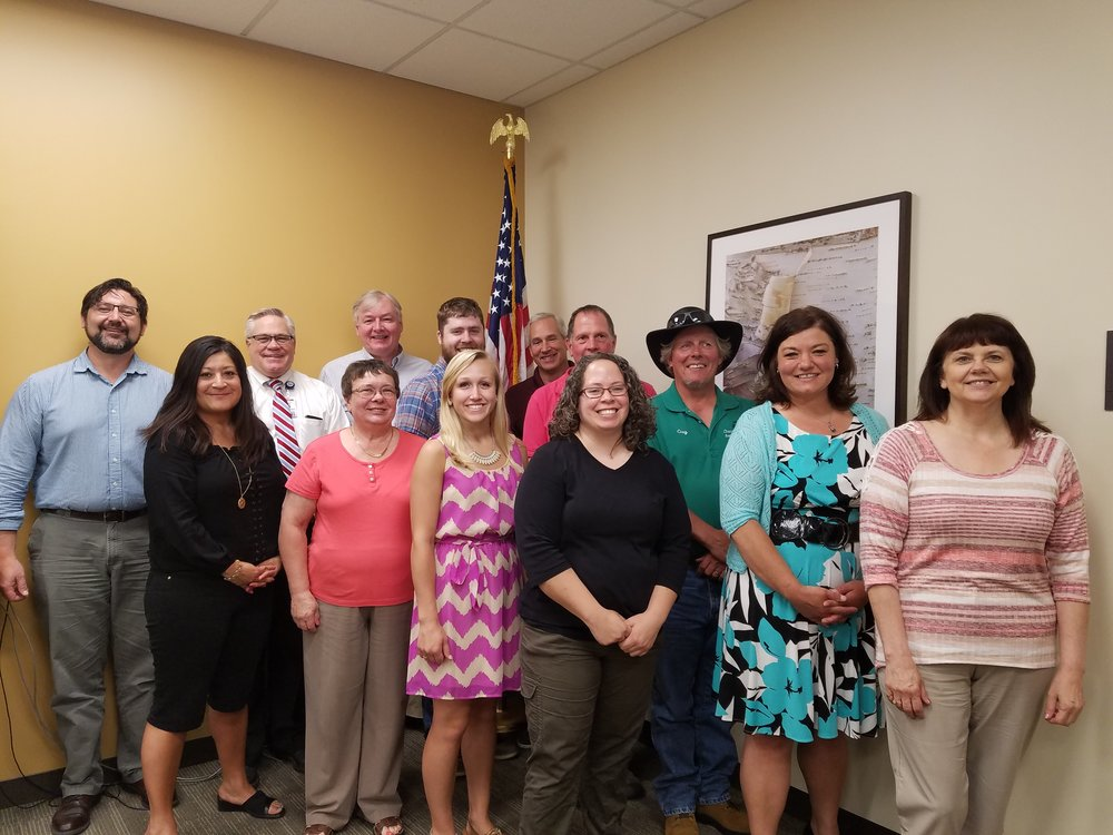 Grant recipients and members of the Pine County Committee