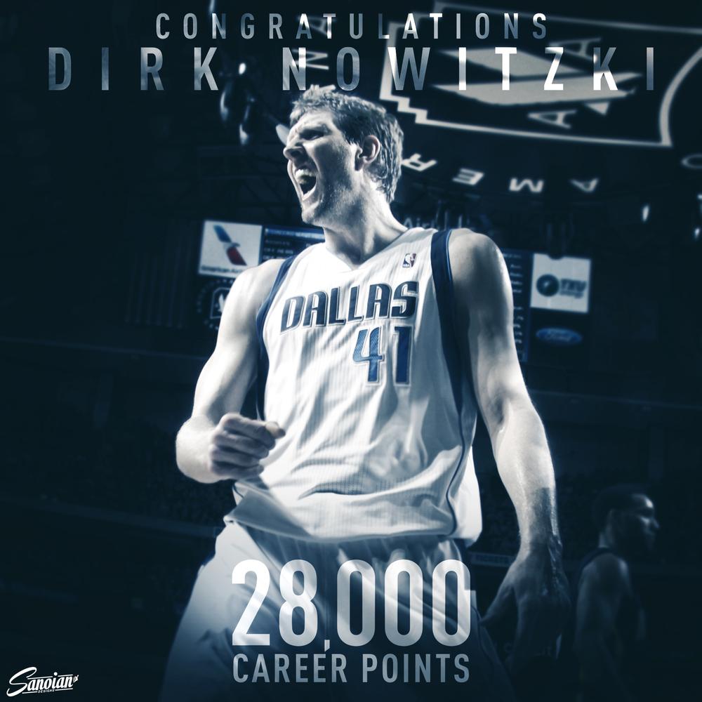 Dirk Nowitzki - 28,000 Career Points