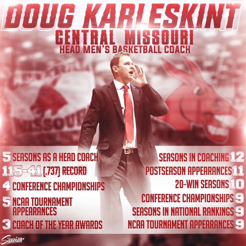 Coach Karleskint - Central Missouri Men's Basketball Head Coach