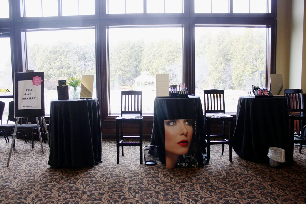 Artist Makeup Stations at Deer Creek Golf Club - Photo Tori Lesniara