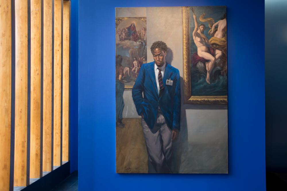 "Deni Ponty ArtGuard2000, 2000 Oil on Canvas 60 x 46"" (152.4 x 116.84 cm) Courtesy of the Artist"