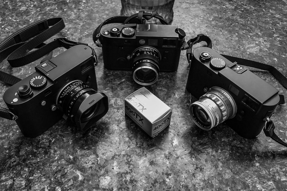 Leica Trifecta: Typ 246, M7, M Monochrom