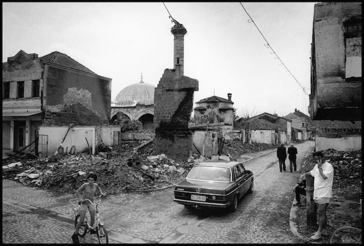 The historical Ottoman centre of Djakove,  leveled by Serb military and paramilitary forces shortly after NATO commenced their bombing campaign. Kosovo.