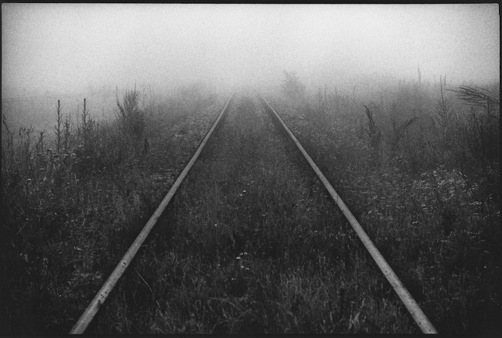 Railway track in Kosovo down which ethnic Albanian Kosovars were deported to Albania by Federal Republic of Yugoslavia authorities.