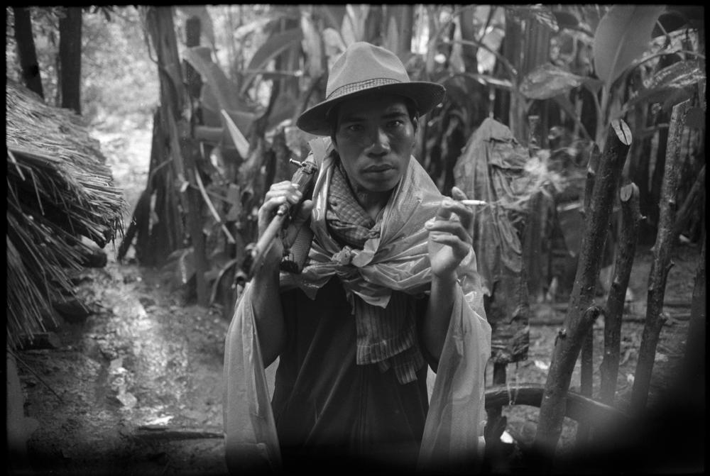 Sihanoukist soldier. Cambodia. 1990