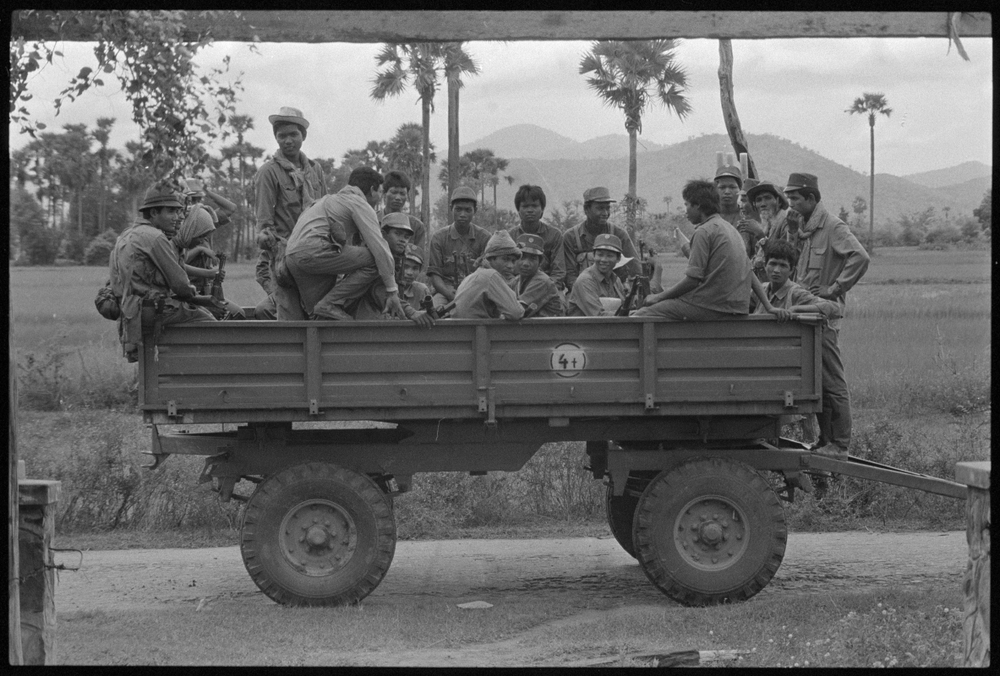 Government soldiers. Cambodia. 1989