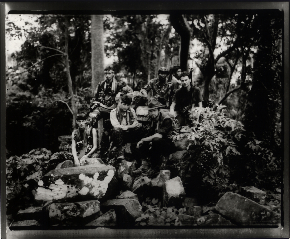 With Khmer guerrillas, Banteay Chmar. 1991. Photo © Philip Blenkinsop
