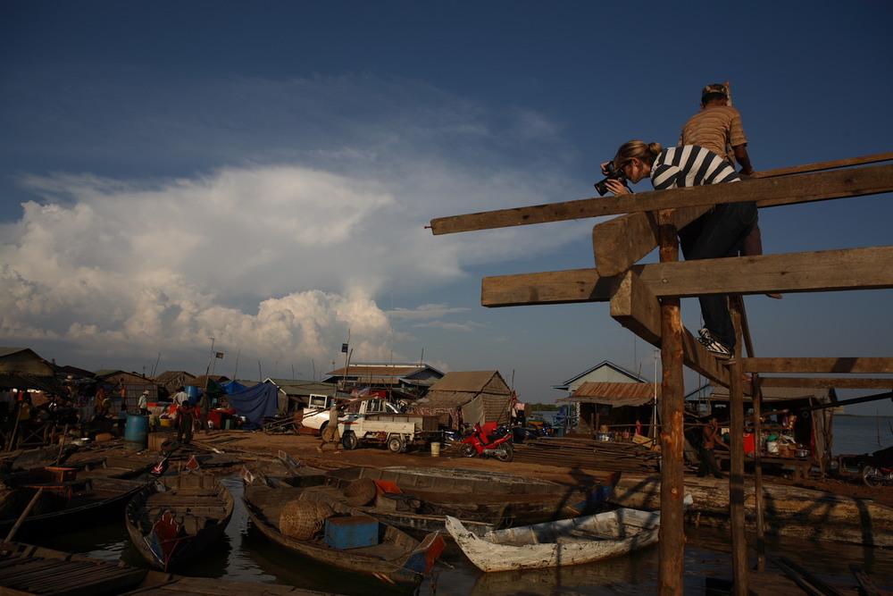 Workshop student Sarah Elliott photographs in Cambodia.