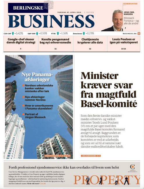 Business-forside 07/04/2016