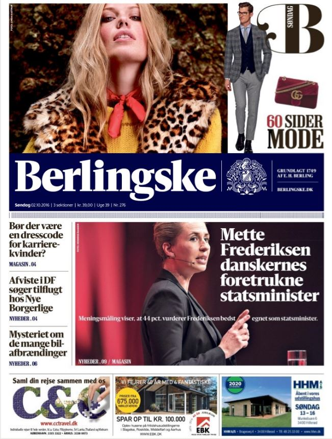 Berlingskes forside 02/10/2016