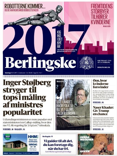 Berlingskes forside 01/01/2017