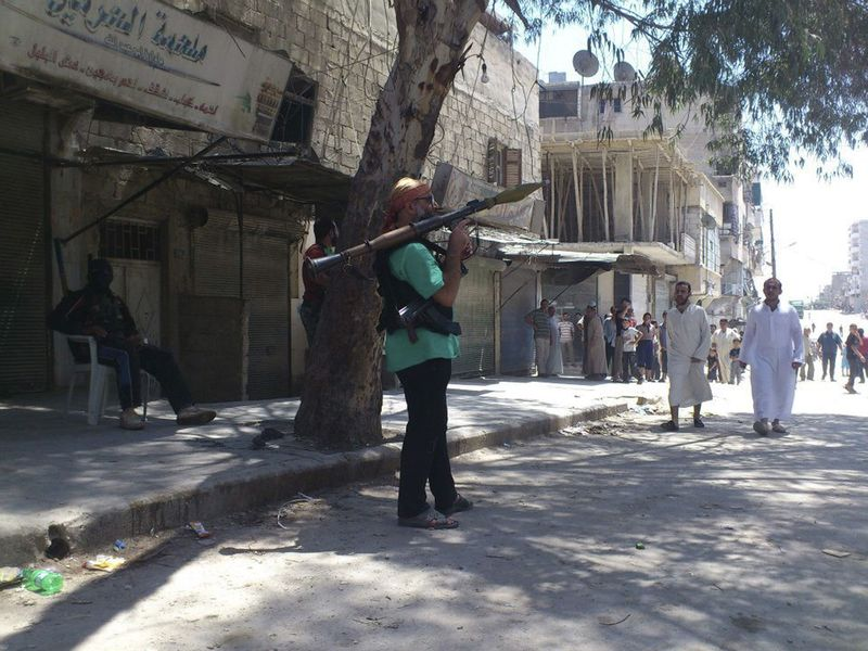 Why and how IHL applies in Syria - Sukari, Aleppo Province, July 20 - Photo courtesy of Reuters/Shaam News Network/Handou