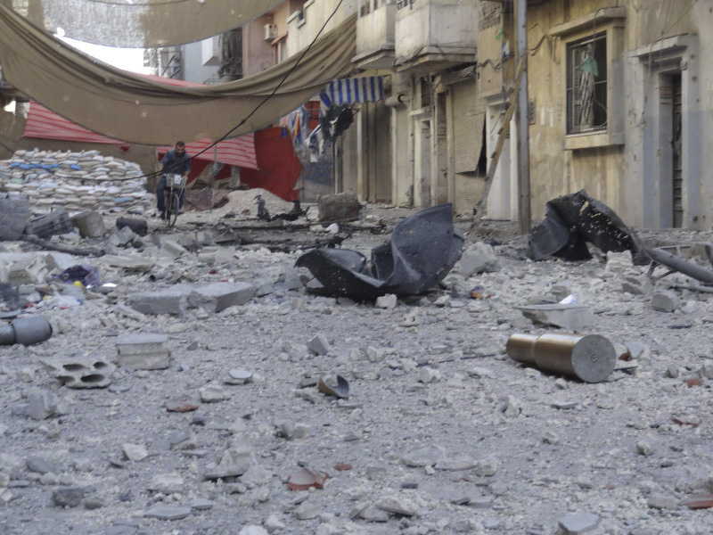 Casualties in Syria rising - Center Of Homs last week - Photo courtesy of Reuters/Waleed Faris/Handout