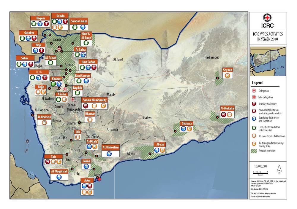 Yemen - a significant operational surface © ICRC