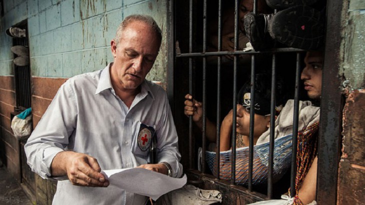 An ICRC Delegate visits a prison in South America, ©ICRC/Jesús Cornejo