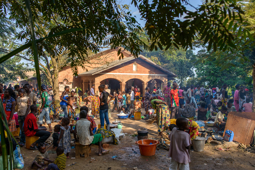 This image was taken in 2013 at the Boy-Rabe Monastery in the Central African Republic's capital of Bangui. More than 15,000 people had taken refugee from fighting there. Copyright: ICRC