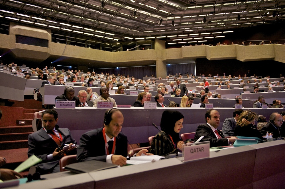 Geneva, International Conference Center. 31st International Conference of the Red Cross and Red Crescent. Thierry GASSMANN,/ICRC.