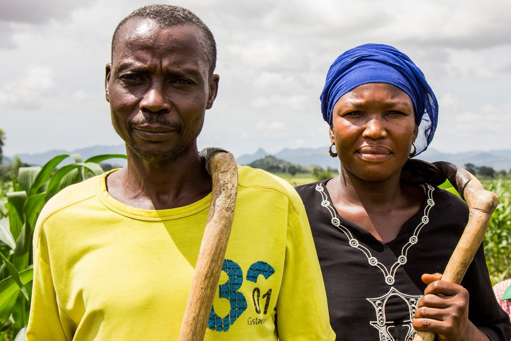 Brother and sister Regina and Michael fled the fighting between the Nigerian armed forces and the armed opposition, leaving their farm equipment and cattle behind.