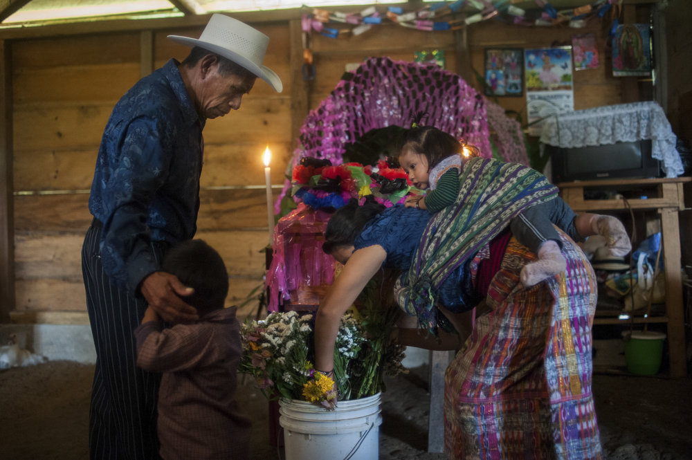Nebaj, Guatemala. ICRC supports families of missing persons with the financial support of coffins, transportions and other costs related to burials. ICRC/Daniele Volpe