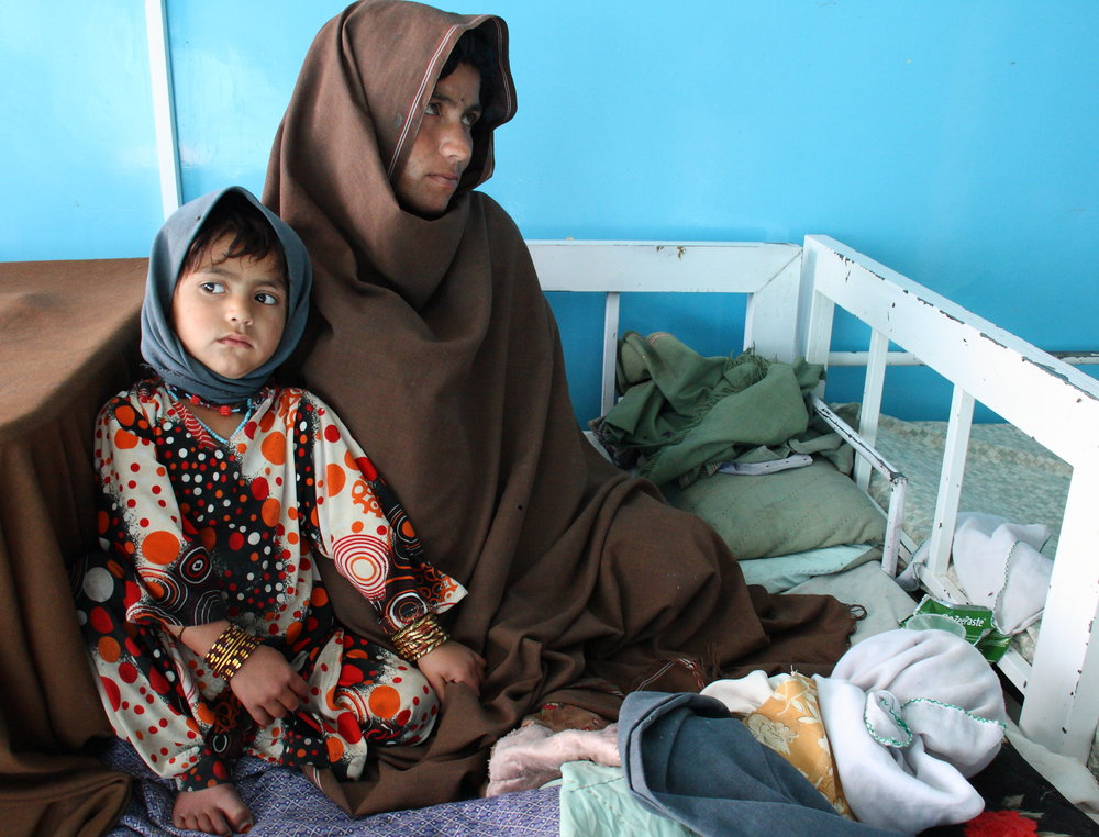 Kandahar, Afghanistan A woman and her family seek treatment at Mirwais Hospital. This is the main surgical, emergency and maternity hospital for around five million people in the south of the country. The ICRC has been working in Afghanistan since 1979.