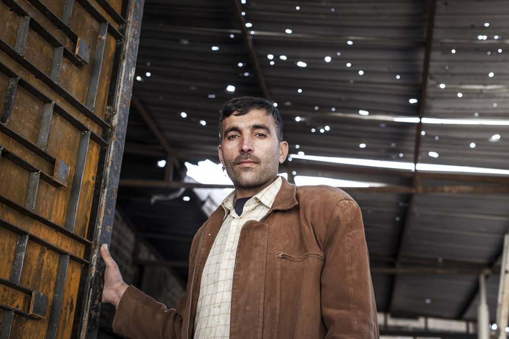 Homs, Syria. The ICRC and the Syrian Arab Red Crescent support income-generating activities. Safwan, pictured here, works as a blacksmith through a micro-economic initiatives program.
